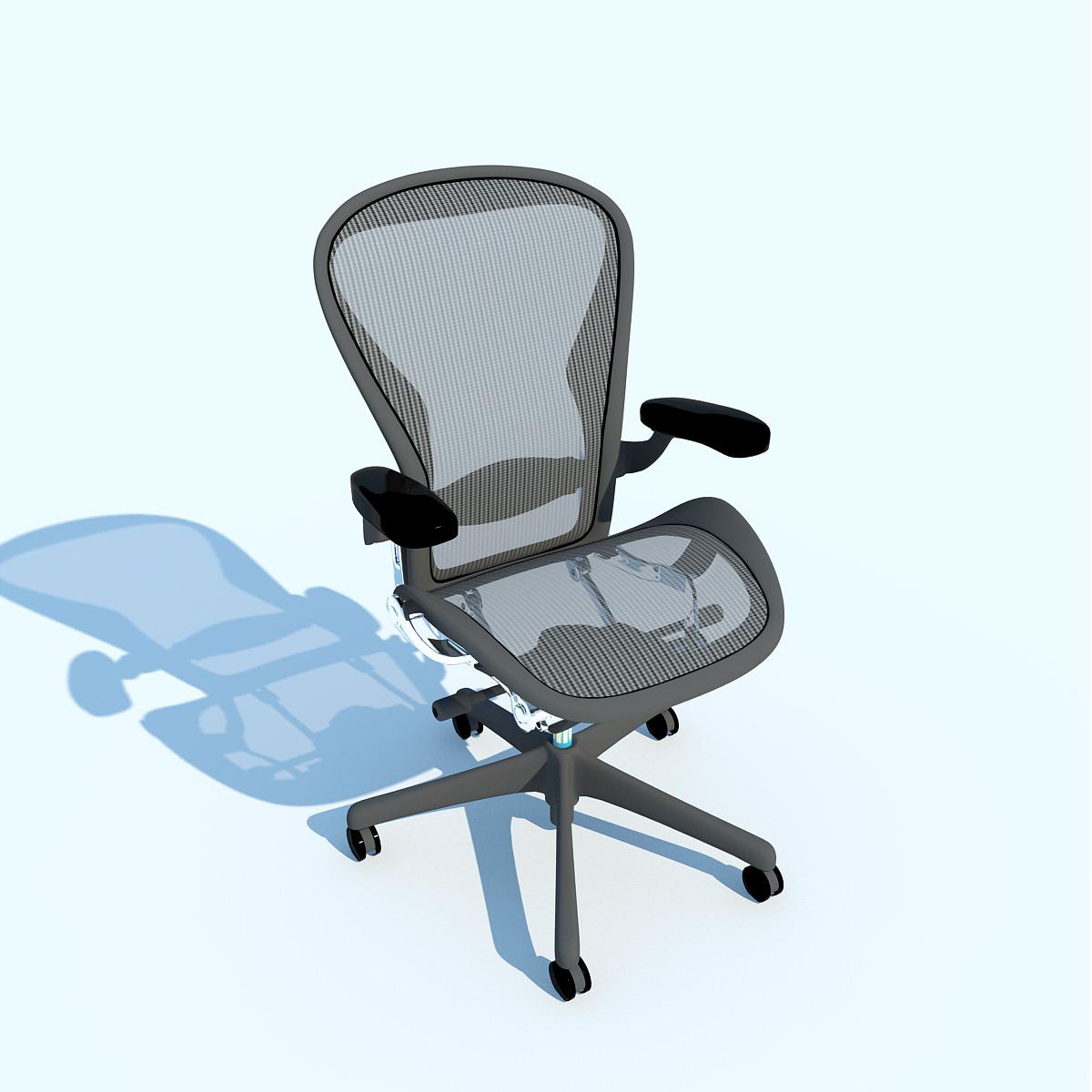 aeron work chair herman miller 3d model max obj 3ds fbx c4d ma mb. Black Bedroom Furniture Sets. Home Design Ideas