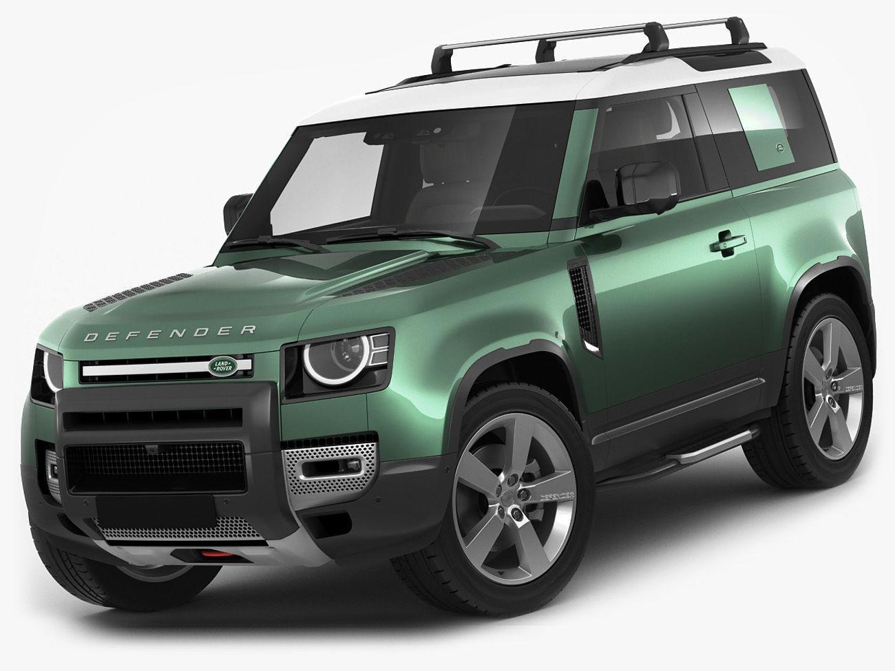land rover defender 90 2020 3d model cgtrader. Black Bedroom Furniture Sets. Home Design Ideas