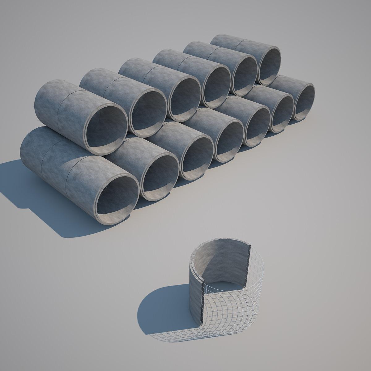 Concrete Pipes | 3D model