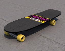 marty mcfly valterra x madrid skateboard  3d model