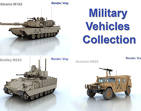 3D model Military vehicles collection