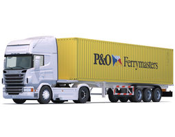 Scania R730 with 10 Containers 3D asset