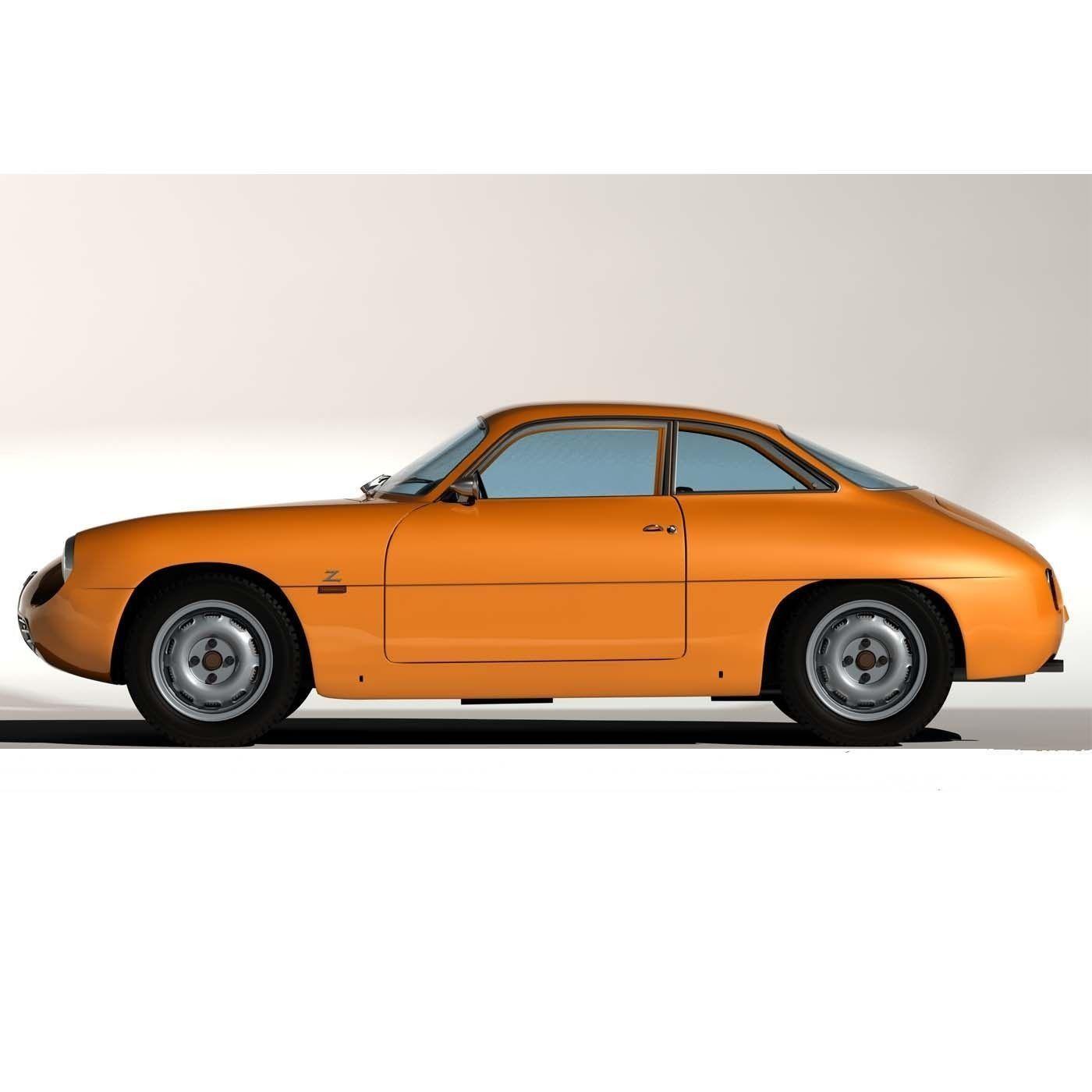 1960 Alfa Romeo Giulietta SZ 3D Model MAX