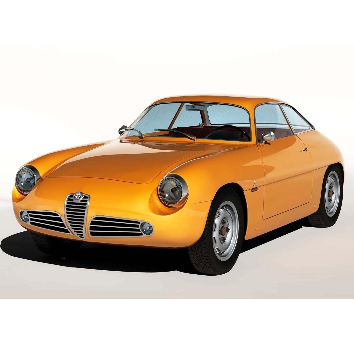1960 Alfa Romeo Giulietta SZ 3D Model .max