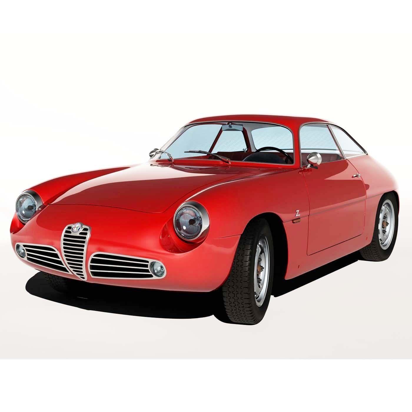 1960 alfa romeo giulietta sz 3d model max. Black Bedroom Furniture Sets. Home Design Ideas