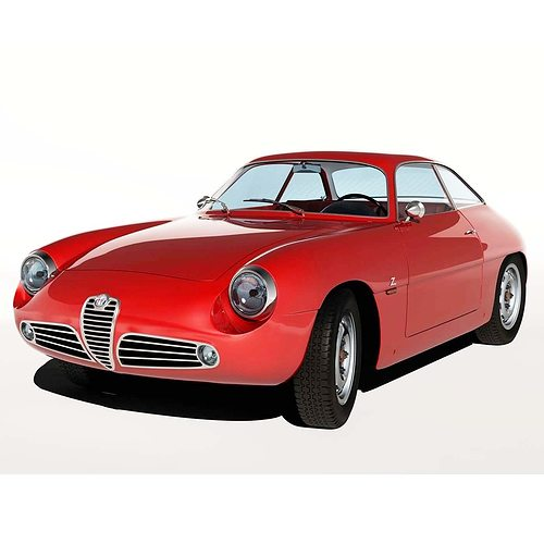 1960 alfa romeo giulietta sz 3d model   cgtrader