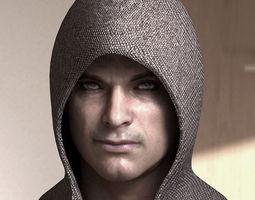 3d model Human head  male  3D Model