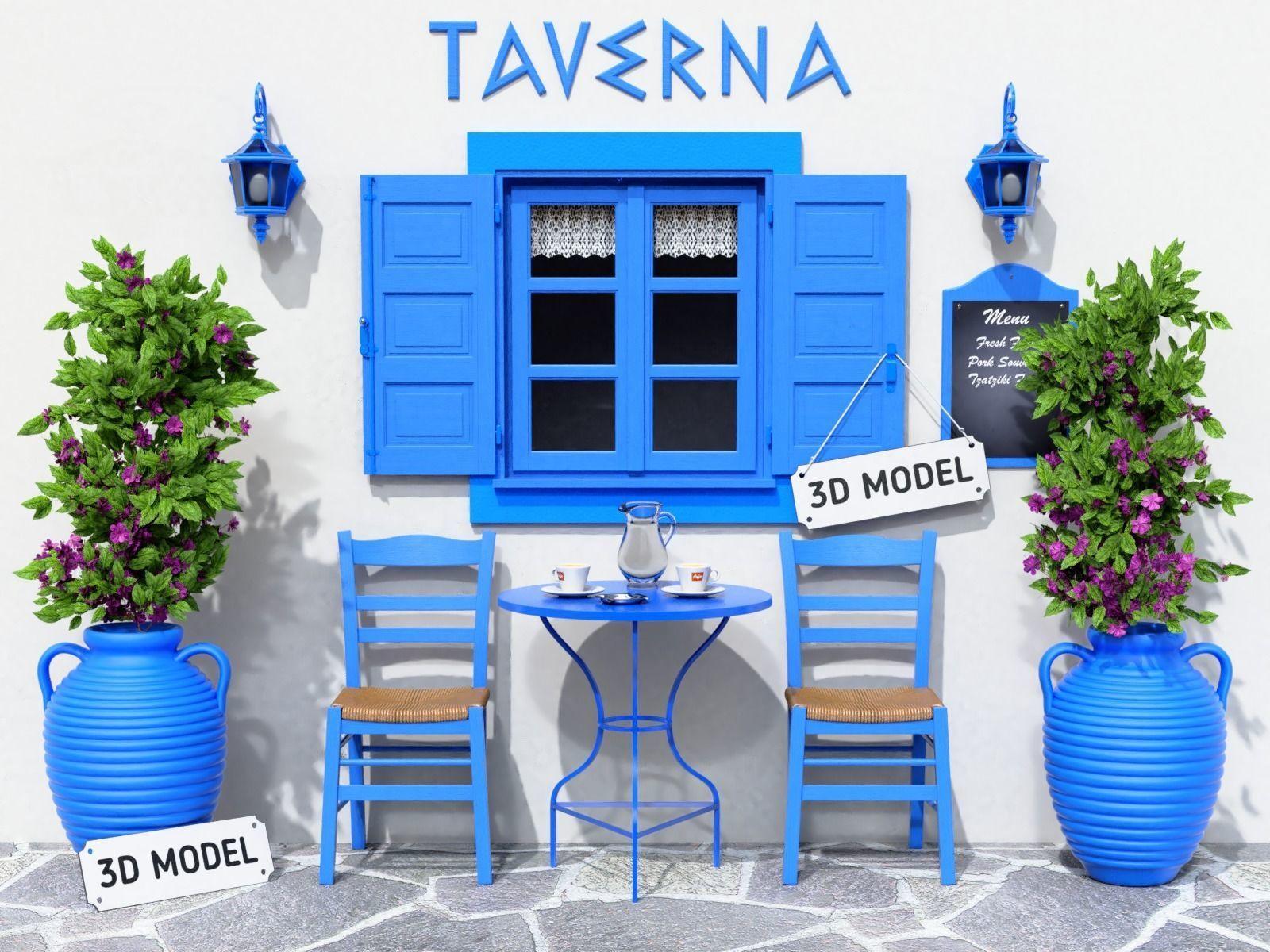 Greek Taverna Terrace