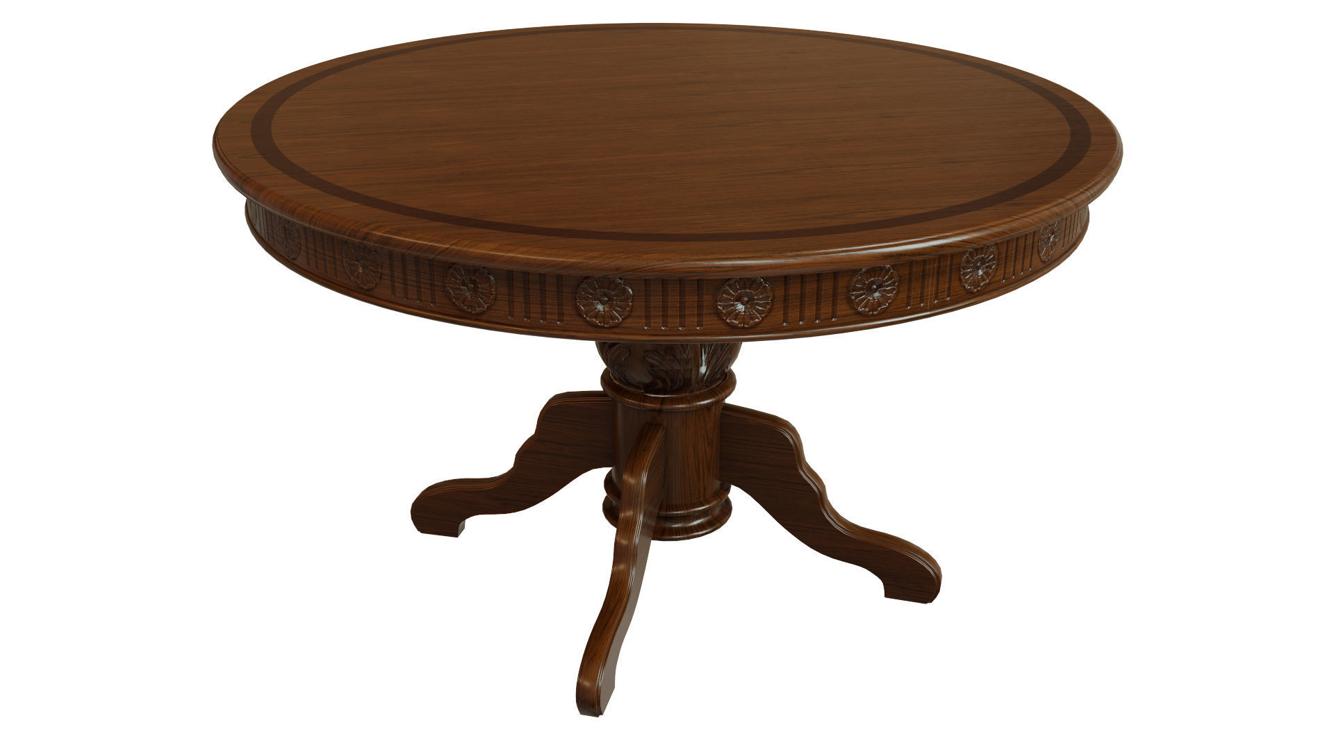 Wooden table with carvings 1200