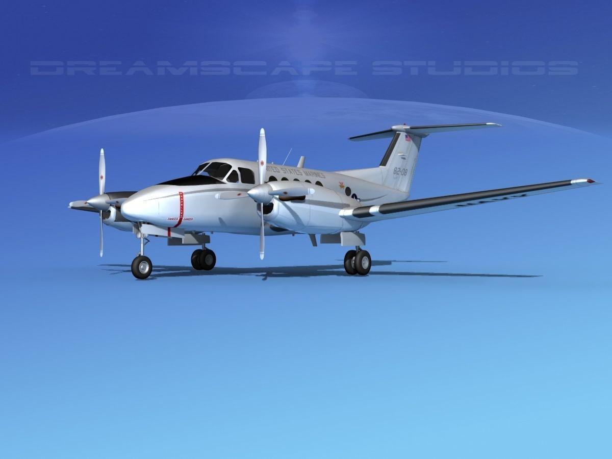 Beechcraft UC-12Q Huron V08 USMC
