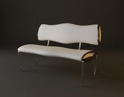 Upholstered Bench 3D