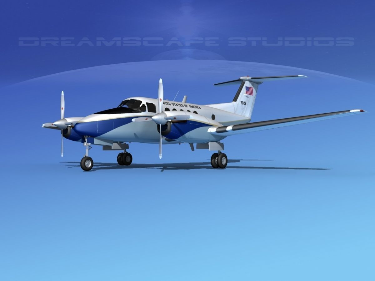 Beechcraft UC-12Q Huron V11 US GOV