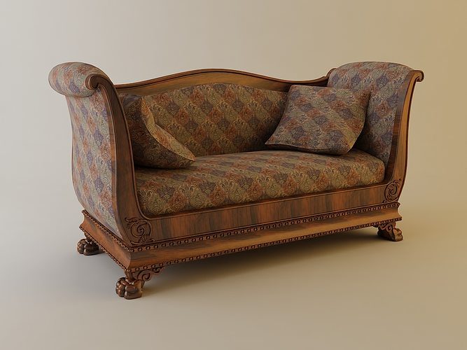 Sofa with pillows 3d model cgtrader for Divan furniture models