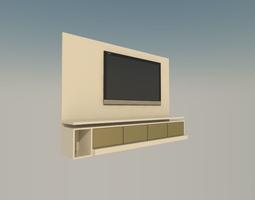3D model tv painel