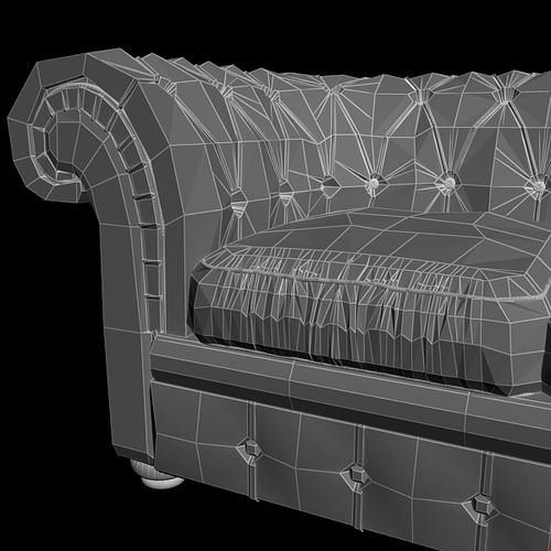 Leather Sofa Relotti Armando 3D Model .max .obj .3ds .fbx