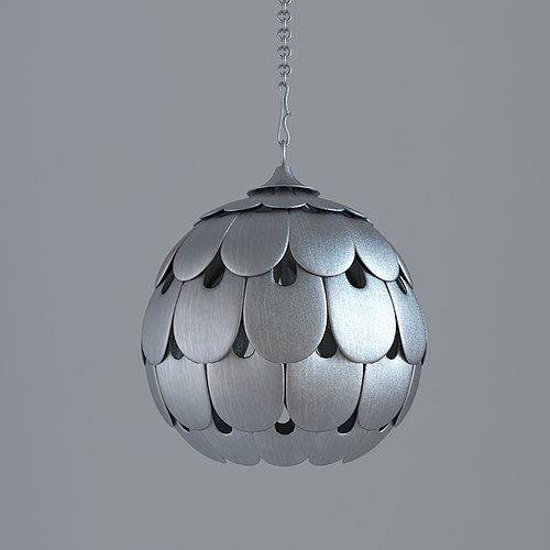 Industrial Ceiling Light 3ds Max: 3D Model Contemporary Ceiling Light Fixture