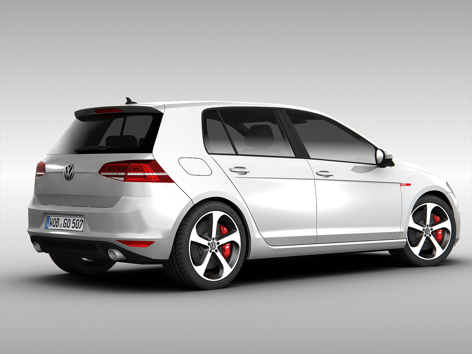 volkswagen golf gti vii 2014 3d model max obj 3ds fbx. Black Bedroom Furniture Sets. Home Design Ideas