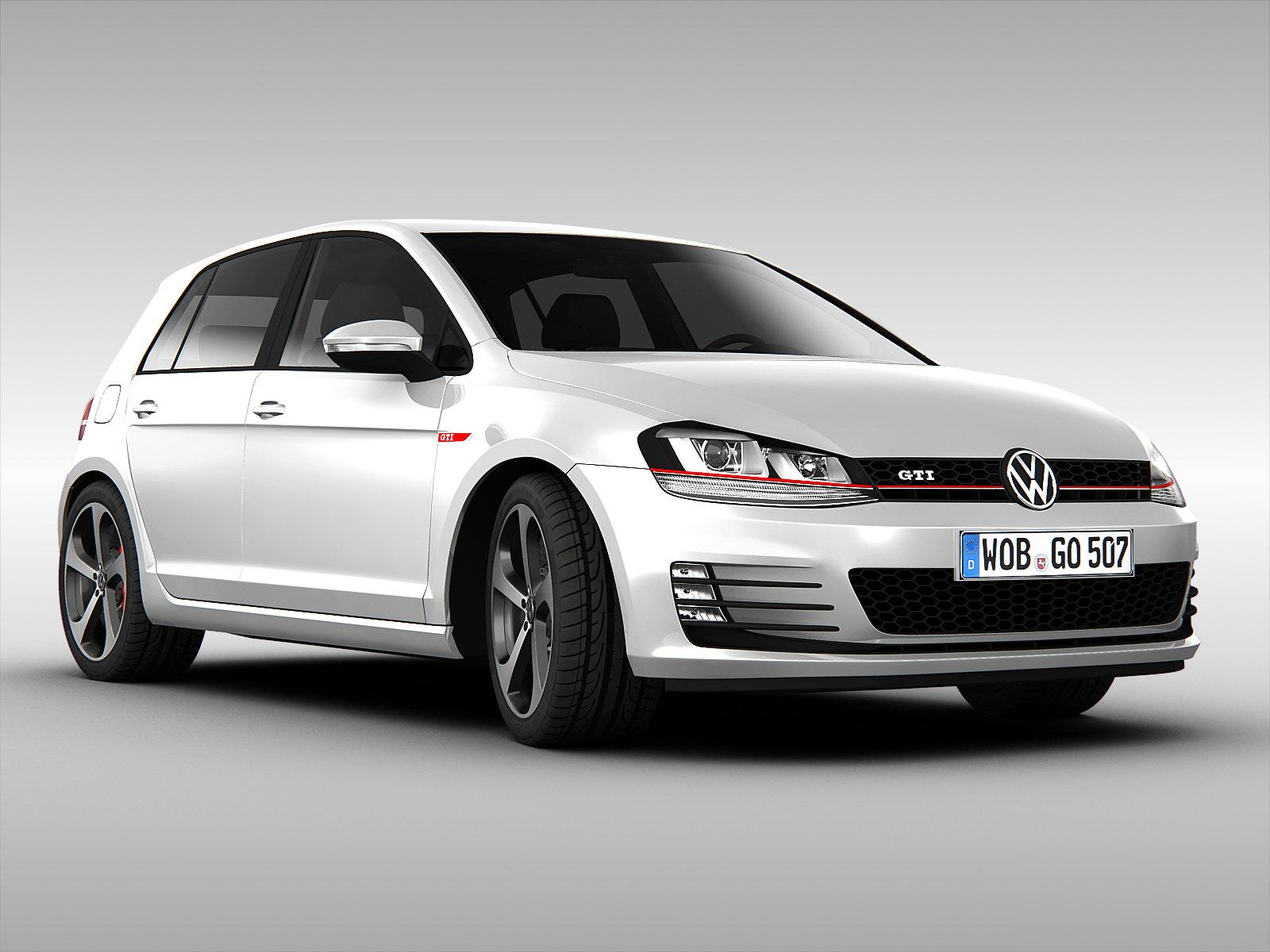 Volkswagen Golf GTI VII 2014 3D Model .max .obj .3ds .fbx - CGTrader.com