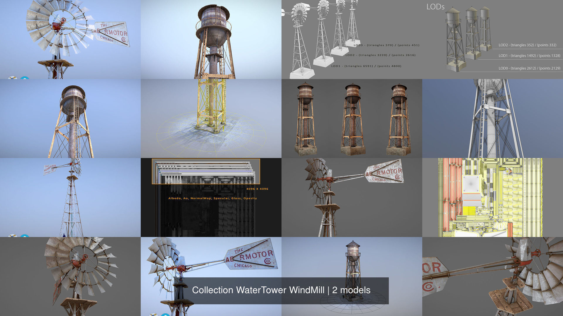 Collection WaterTower WindMill