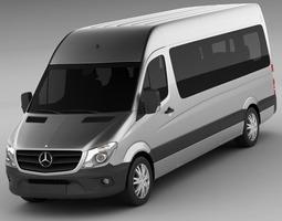 3d model  mercedes sprinter 2013 minibus