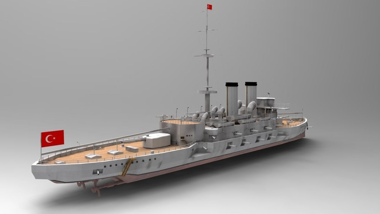 Ottoman Battleship Mesudiye 3D Model