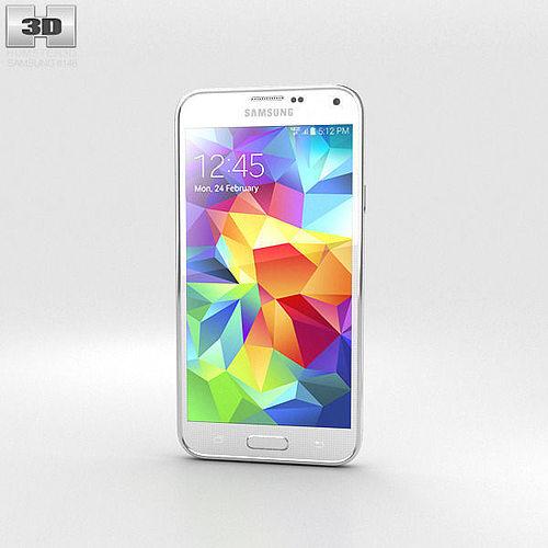samsung galaxy s5 verizon shimmery white 3d model max obj 3ds fbx c4d lwo lw lws 1