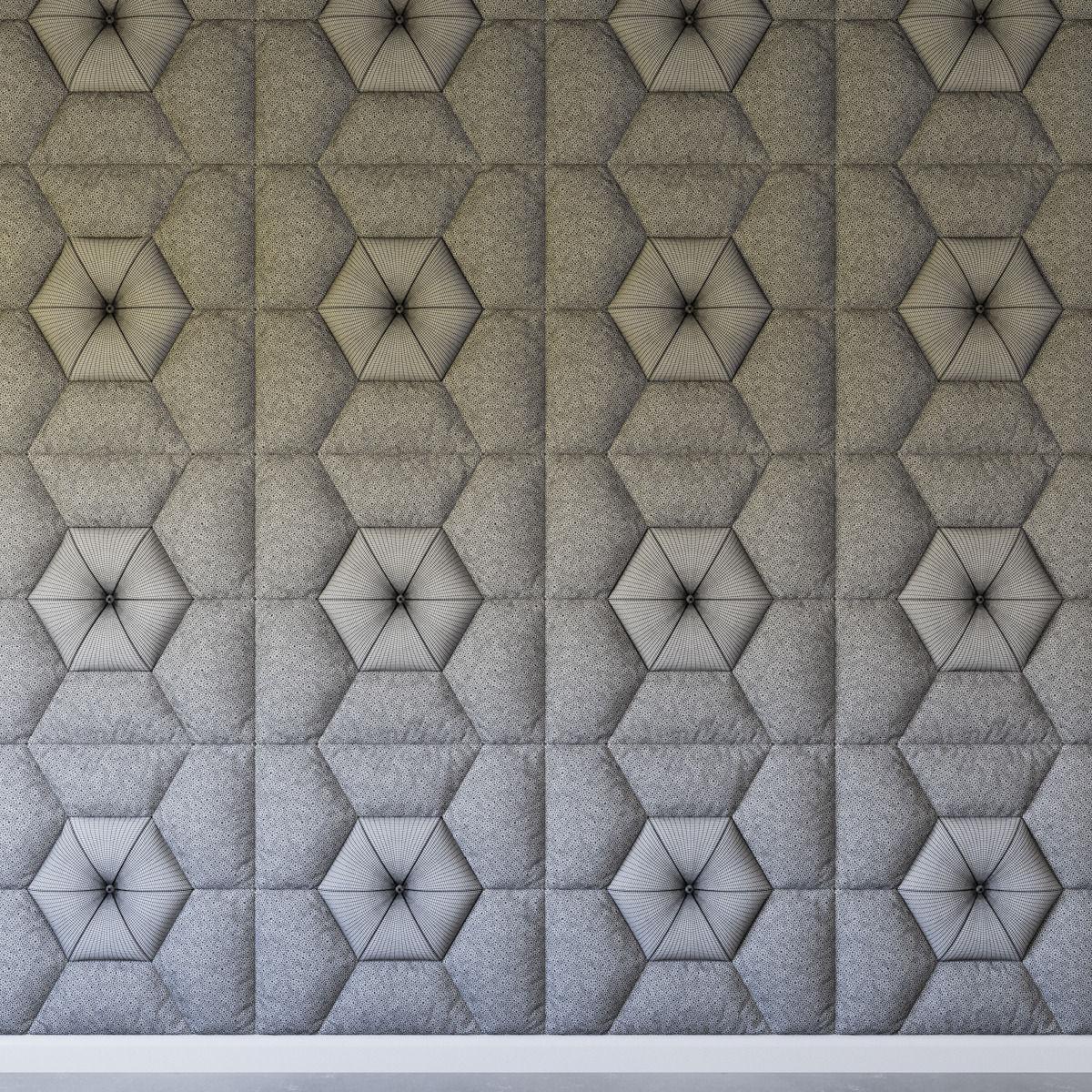 3D Decorative wall pattern panel   CGTrader