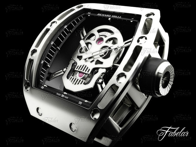 tourbillon skull rm052 3d model max 1