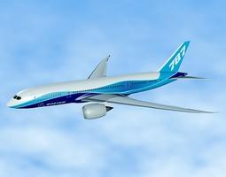 Boeing 787 civilian jet 3D model