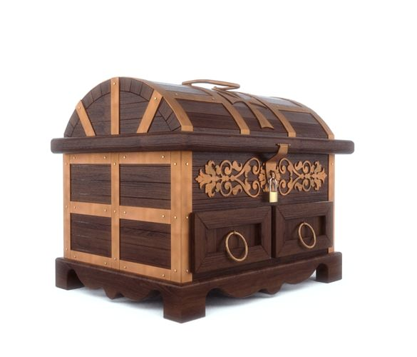 Antique style jewelry box3D model