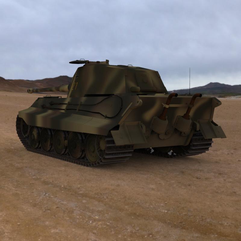 Tiger Tank Interior Model: King Tiger WWII Tank 3D Model .obj