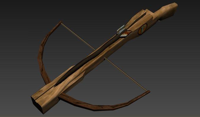 3d model 3D Medieval Crossbow