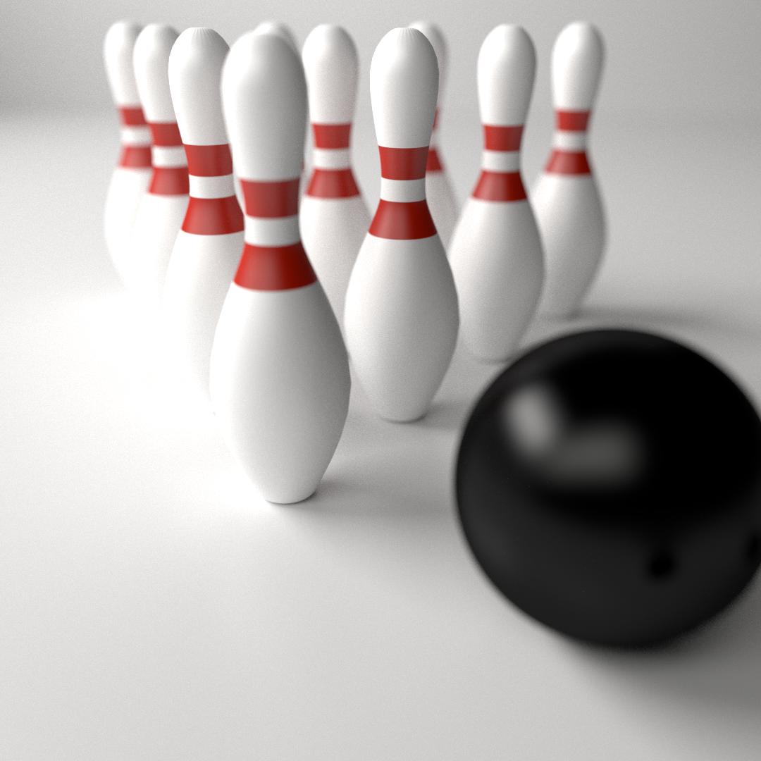 Bowling Sets 3d Model 3ds Fbx Blend Dae Cgtrader Com