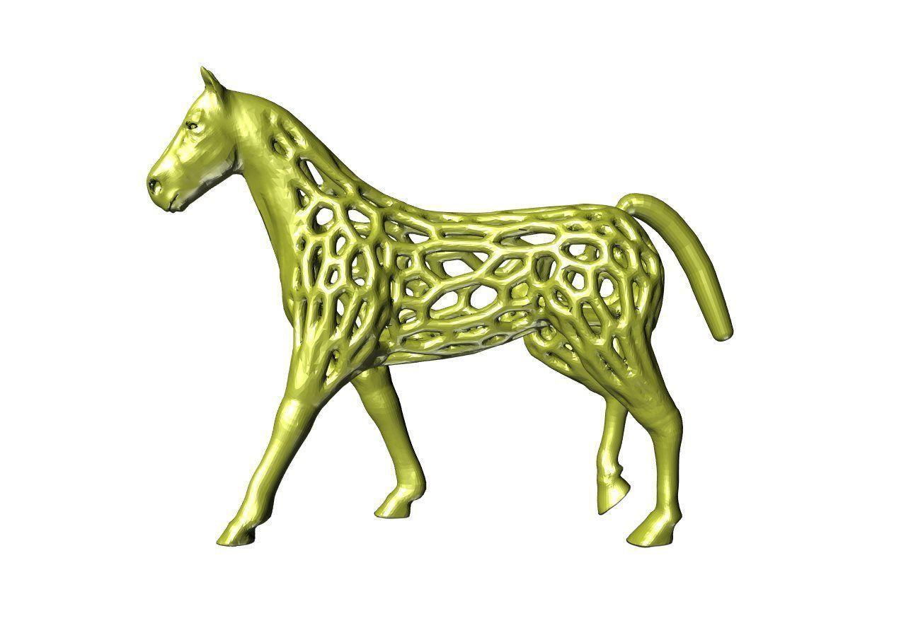 voronoi style horse