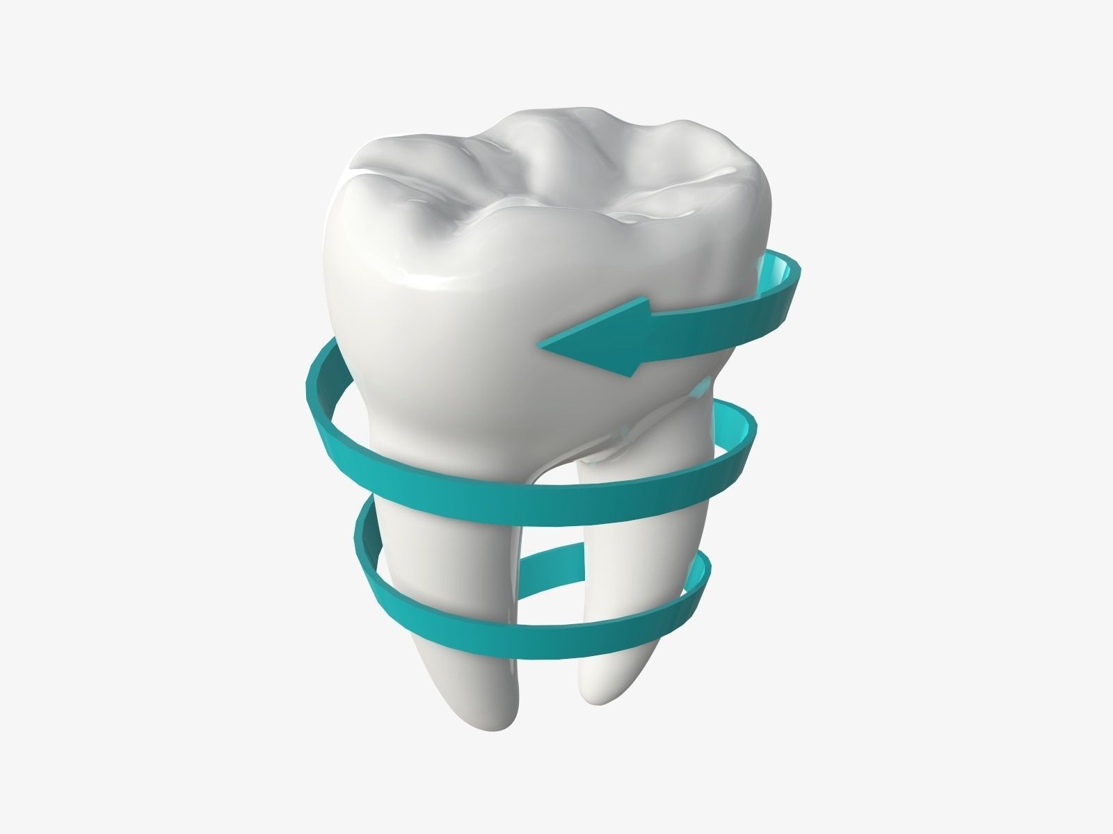 Tooth molars with arrow 03