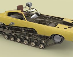 Peacemaker from Mad Max Fury road 3D Model