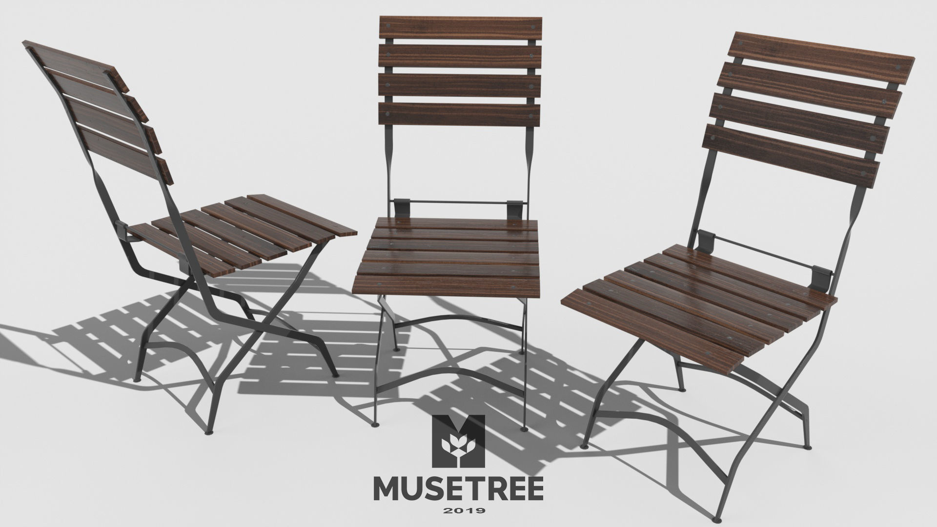 outdoor cafe print model cgtrader