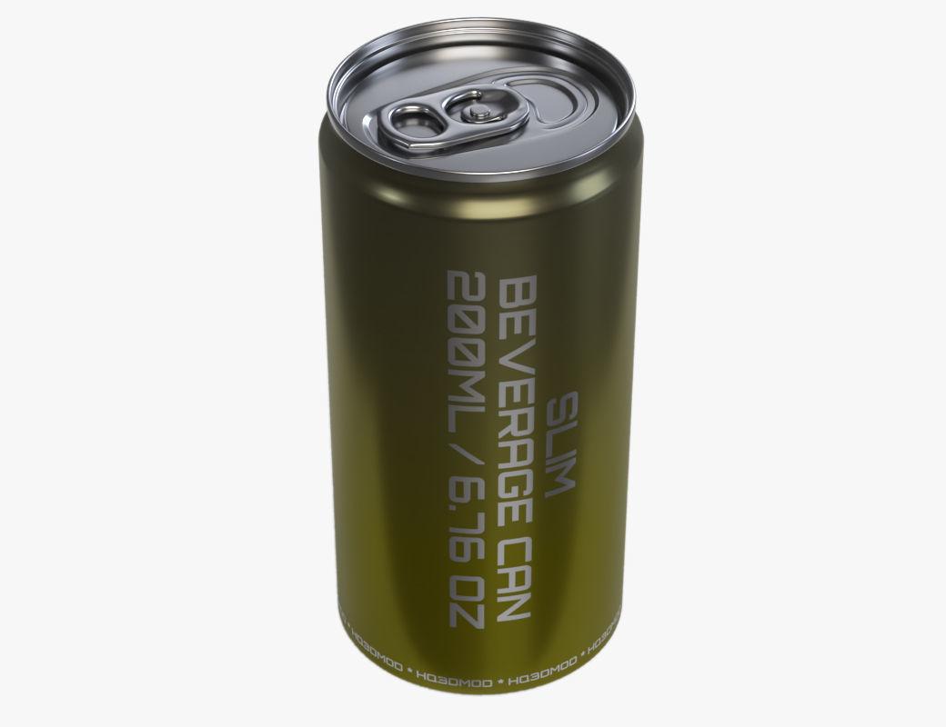 Slim soda energy drink beverage can 200 ml 6-76 oz