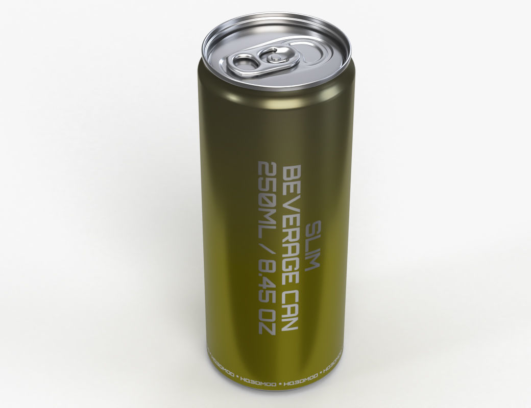 Slim soda energy drink beverage can 250 ml 8-45 oz