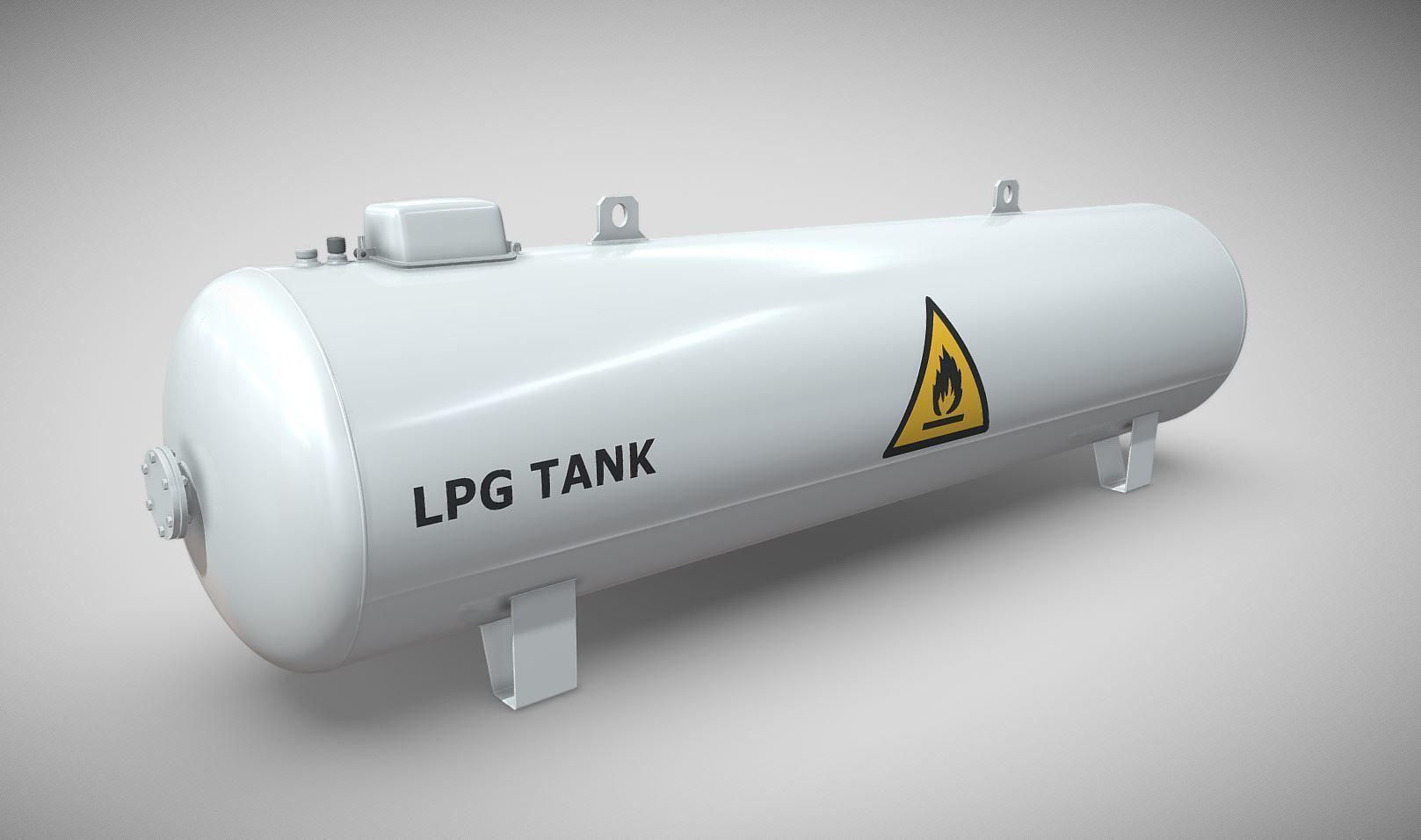 Liquefied Petroleum Gas Tank High-Poly