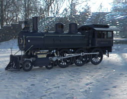 3d locomotive 382 obj