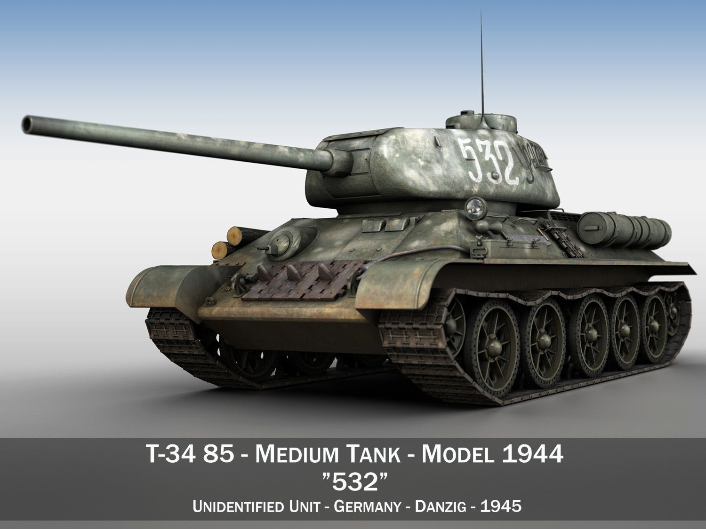 T-34 85 - Soviet medium tank - 532