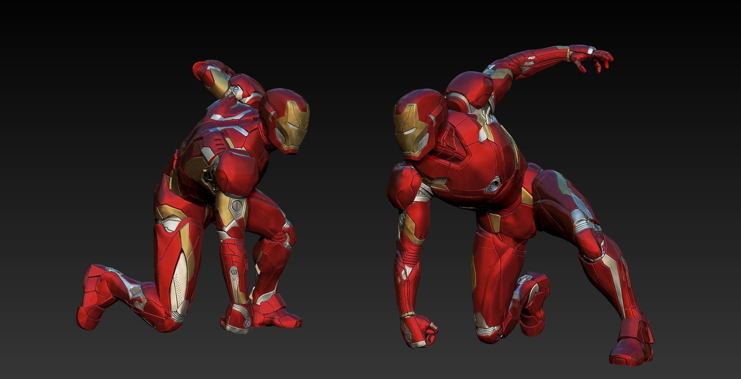 Iron Man Mk46 Landing Pose