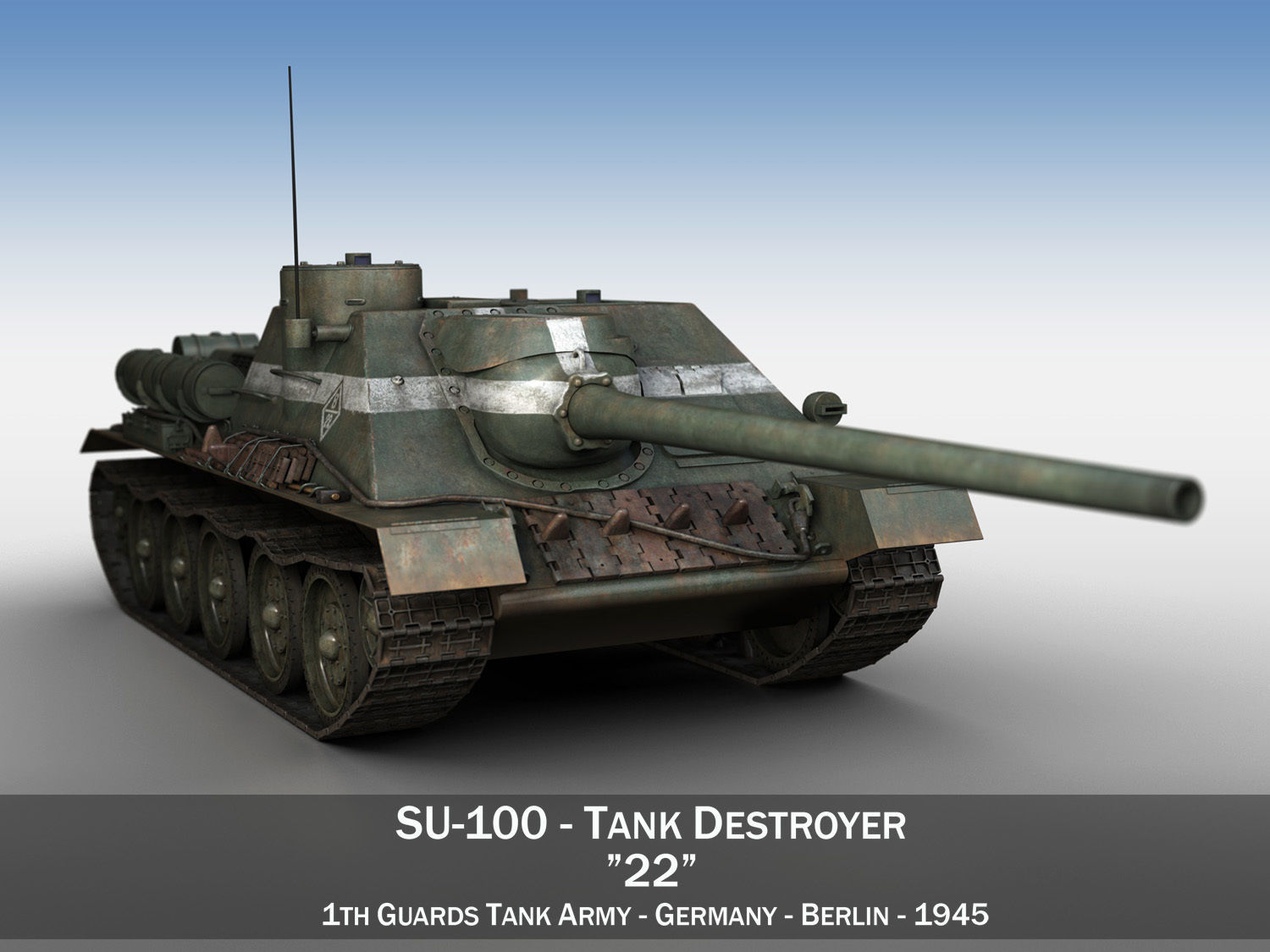 SU-100 - 22 - Soviet Tank Destroyer