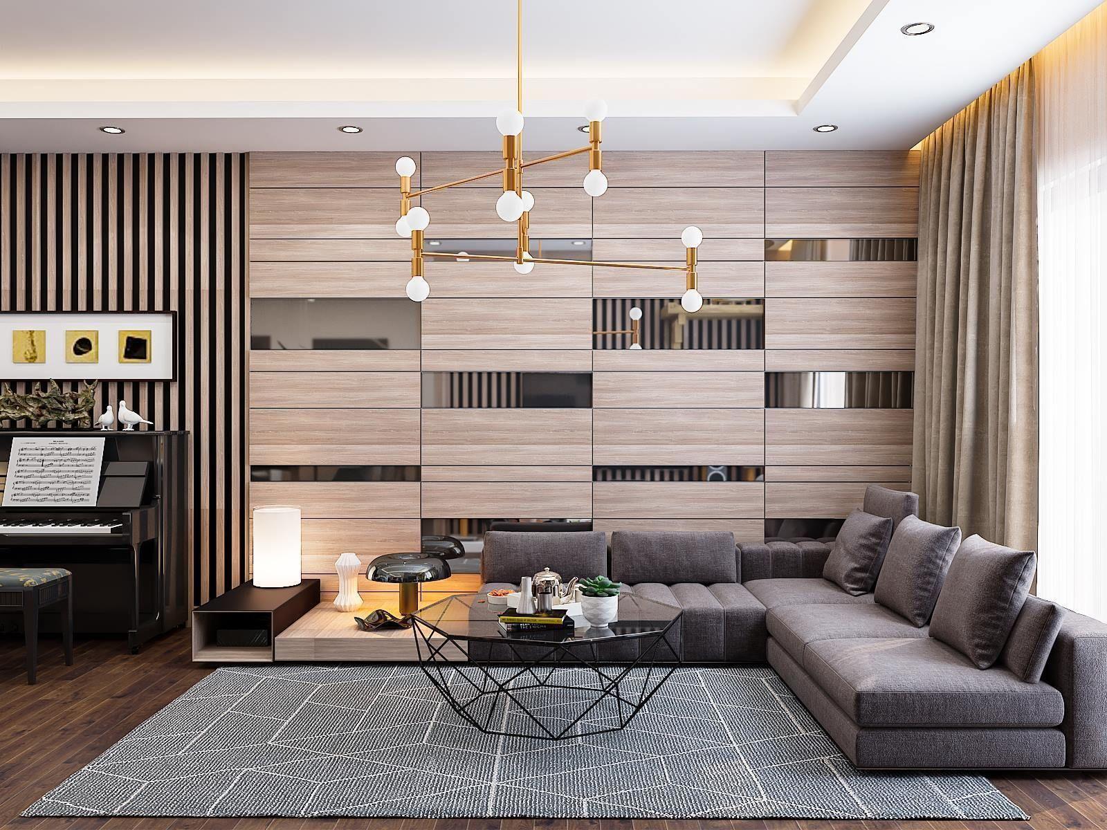 Apartment- Living room hall kichen scene 3D model 3D model