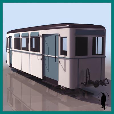 Carrage train metro wagon 3d model max - Carrage metro ...