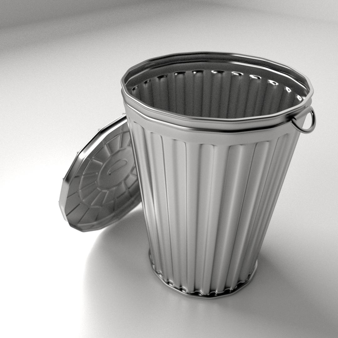 Garbage Can 3d Model Fbx Blend Dae Cgtrader Com