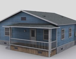 small wooden house 3D asset