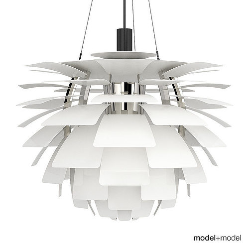 louis poulsen ph artichoke lamp 3d model max obj mtl fbx mat 1