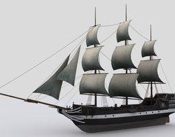 Sailing ship 3D model